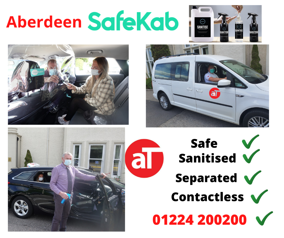 SafeKab is safe travel with Aberdeen Taxis.